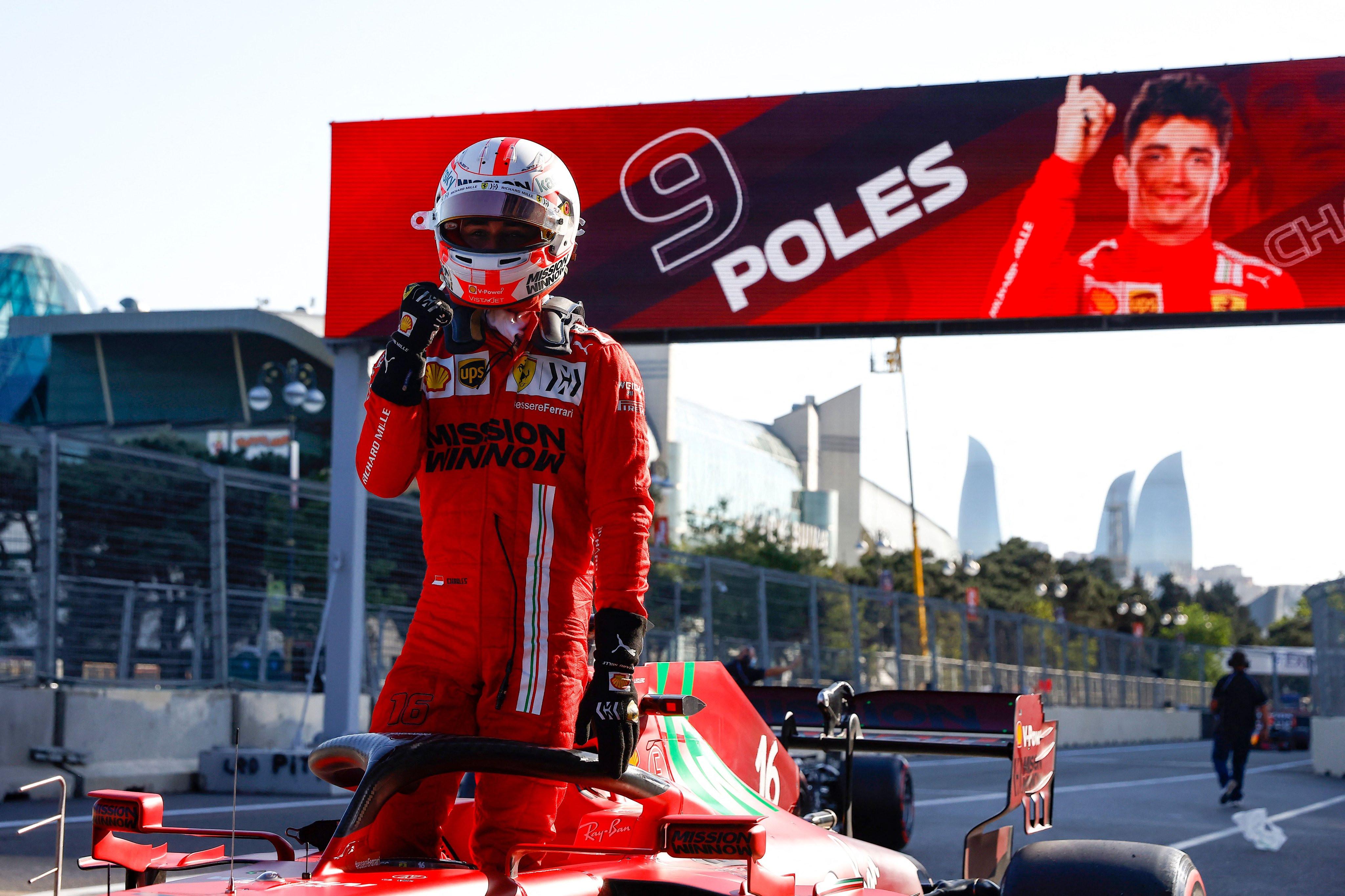 Diwarnai Banyak Kecelekaan, Leclerc Raih Pole di GP Azerbaijan